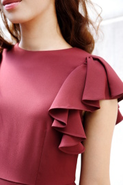 【selva secreta】ARM FRILL DRESS(red)