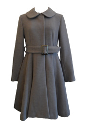 【selva secreta】FLARED  COAT The latest edition(light-gray)
