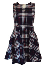 【selva secreta】WOOL CHECK DRESS(navy)