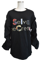 【selva secreta】applique sweat(black)