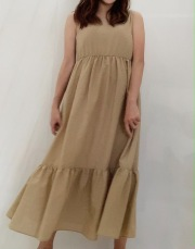 【selva secreta】Fluffy DRESS(beige)