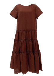 【selva secreta】LINEN DRESS(brown)