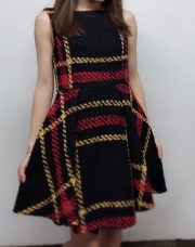 【selva secreta】WOOL CHECK  DRESS(ltaily-black)