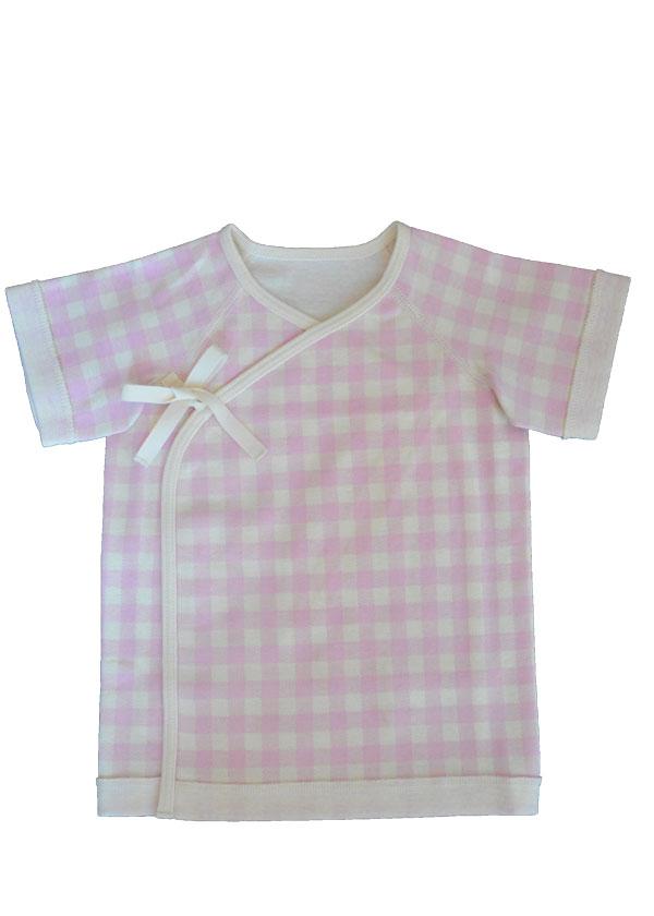 【selva secreta baby】オーガニックコットン生地ギンガムチェック肌着(pink)