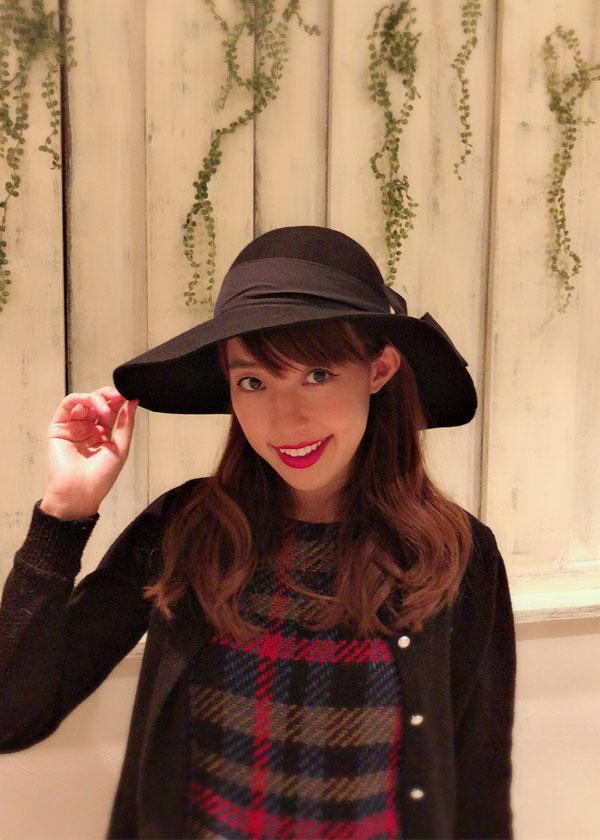 【selva secreta】WOOL RIBBON HAT(black)
