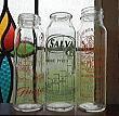 C1047 フランスアンティーク・ガラス哺乳瓶・トリオ