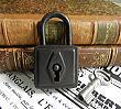CL7658 フランス・アンティークパドロック・鍵