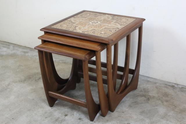 G-PLAN ジープラン タイルトップネストテーブル  ラーセン チーク ヴィンテージ