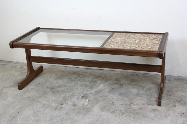 g-plan ジープラン タイル&ガラストップコーヒーテーブル
