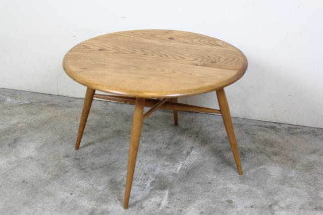 ercol アーコール ハーフムーンテーブル コーヒーテーブル