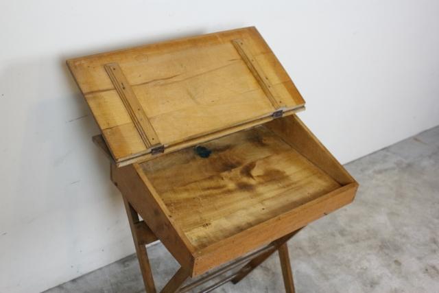 ヴィンテージ イギリス スクールデスク 折り畳み式