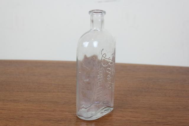 イギリス アンティーク BOOTS ビン 花瓶 一輪挿し 薬瓶
