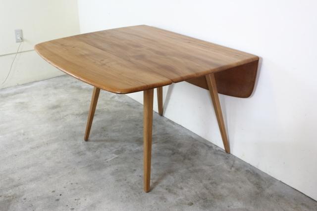 ercol アーコール バタフライテーブル ダイニングテーブル ドロップリーフテーブル 正方形