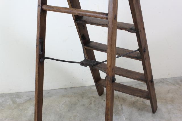 イギリス ヴィンテージ ラダー 脚立 木製 はしご