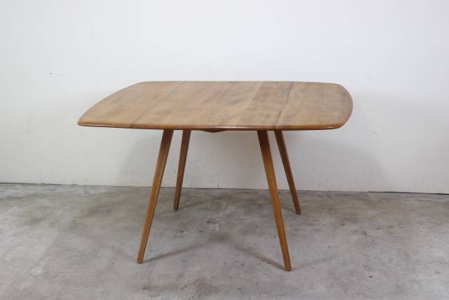 アーコール ercol ドロップリーフ バタフライテーブル ダイニングテーブル 正方形