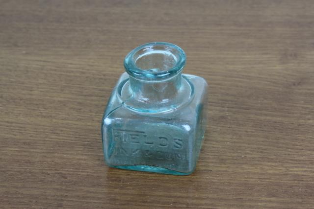 イギリス アンティーク インク瓶 一輪挿し 花瓶 ボトル フラワーベース