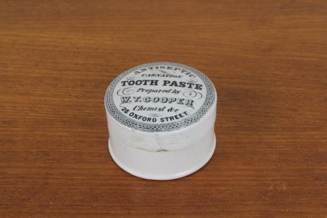TOOTH PASTE トゥースペーストジャー 歯磨き粉 陶器ポット イギリス アンティーク