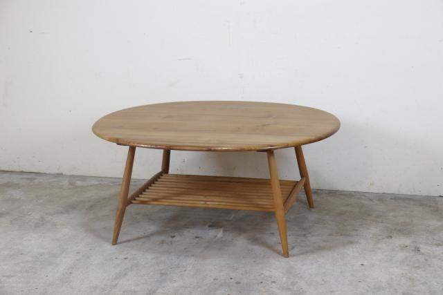 ercol アーコール ラック付きコーヒーテーブル