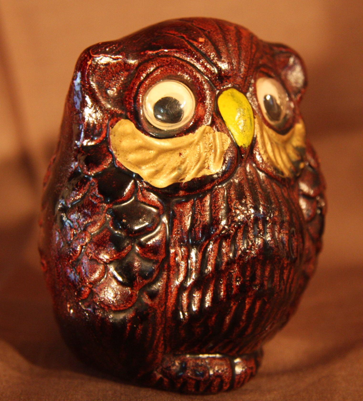 フクロウ 陶器製 1950~1960年代くらい?笛 【AJ1093】