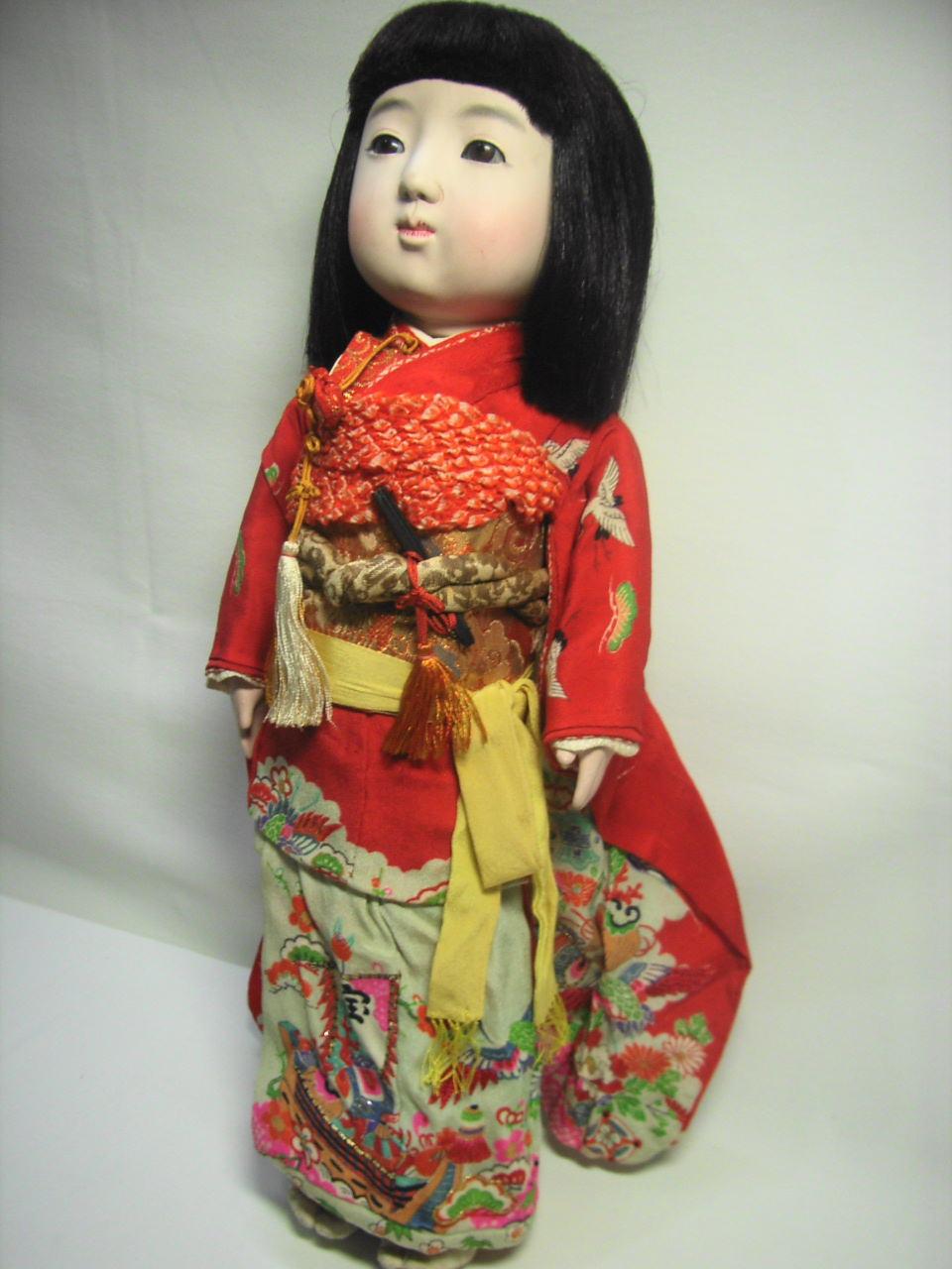 時代感あり☆市松人形 着物 【AJ1127】