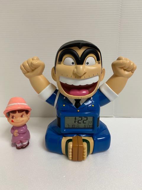 東京新聞☆こち亀☆目覚まし時計 19.0cm 320g 両津勘吉 当時物 企業物 非売品 現状 動作確認済み 【AT1086】