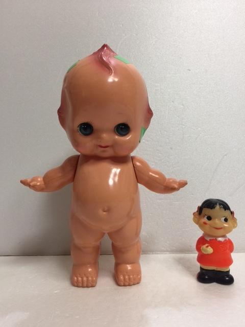 オリエンタル ORIENTAL キューピー セルロイド 人形 大 25.0 当時物 マーク有 刻印有 現状 【AT12】