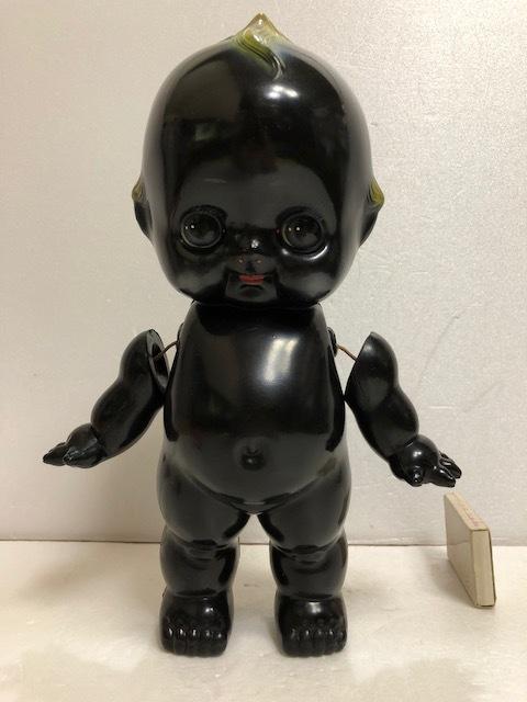貴重☆ブラック☆オリエンタル ORIENTAL キューピー セルロイド 人形 大 25.0 当時物 マーク有 刻印有 現状 【AT141】