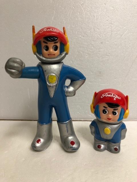 東芝 光速エスパー 坊や 人形 15.8cm 当時物 企業物 非売品 現状 【AT361】