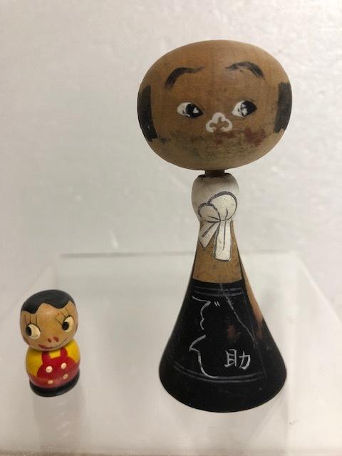 1950年代☆珍☆デン助 大宮敏充(1913-1976) こけし でん助 人形 8.0cm 昭和レトロ 当時物 デン助劇場 現状 詳細不明 【AT425】