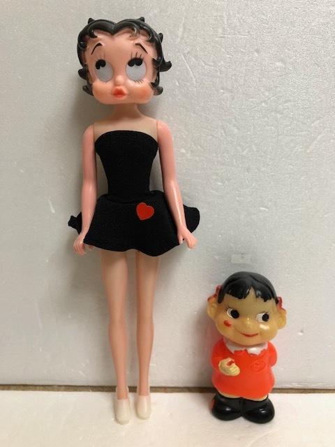 ベティちゃん ベティ・ブープ 人形 大 23.0cm 当時物 版権有 現状 【AT443】
