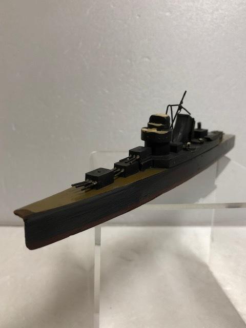 大型☆昭和12年当時☆江崎グリコ 軍艦模型 巡洋艦 熊野 木製 の写真のみ 【AT480】