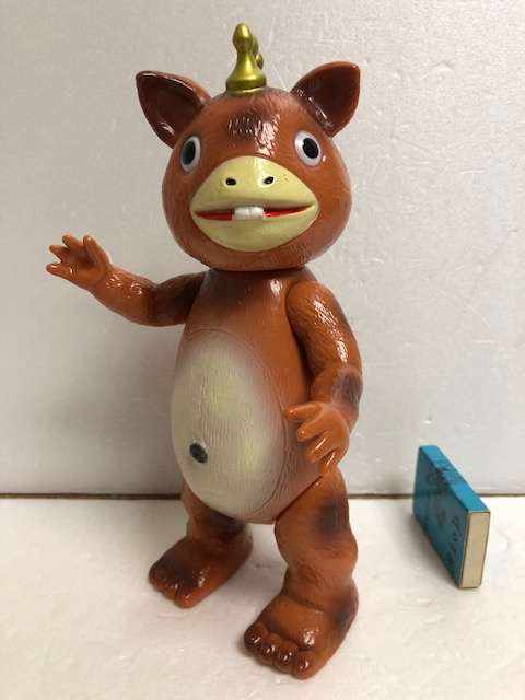イヌクマ☆ブースカ☆ソフビ人形 21.7cm JAPAN 当時 版権有 円谷プロ 現状 【AT676】
