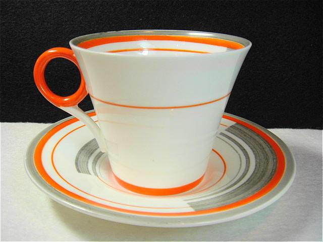 1930年代 イギリス シェリー アールデコ アンティーク カップ&ソーサー [AW0046]