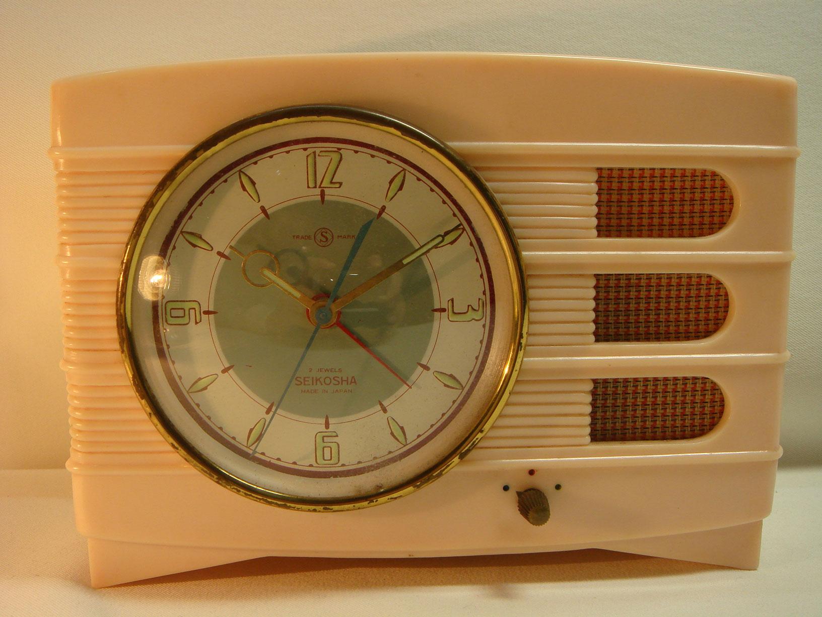 精巧舎 オルゴール目覚まし時計 手巻き 1950年代~ 動作確認済み 日本製 【AW1027】