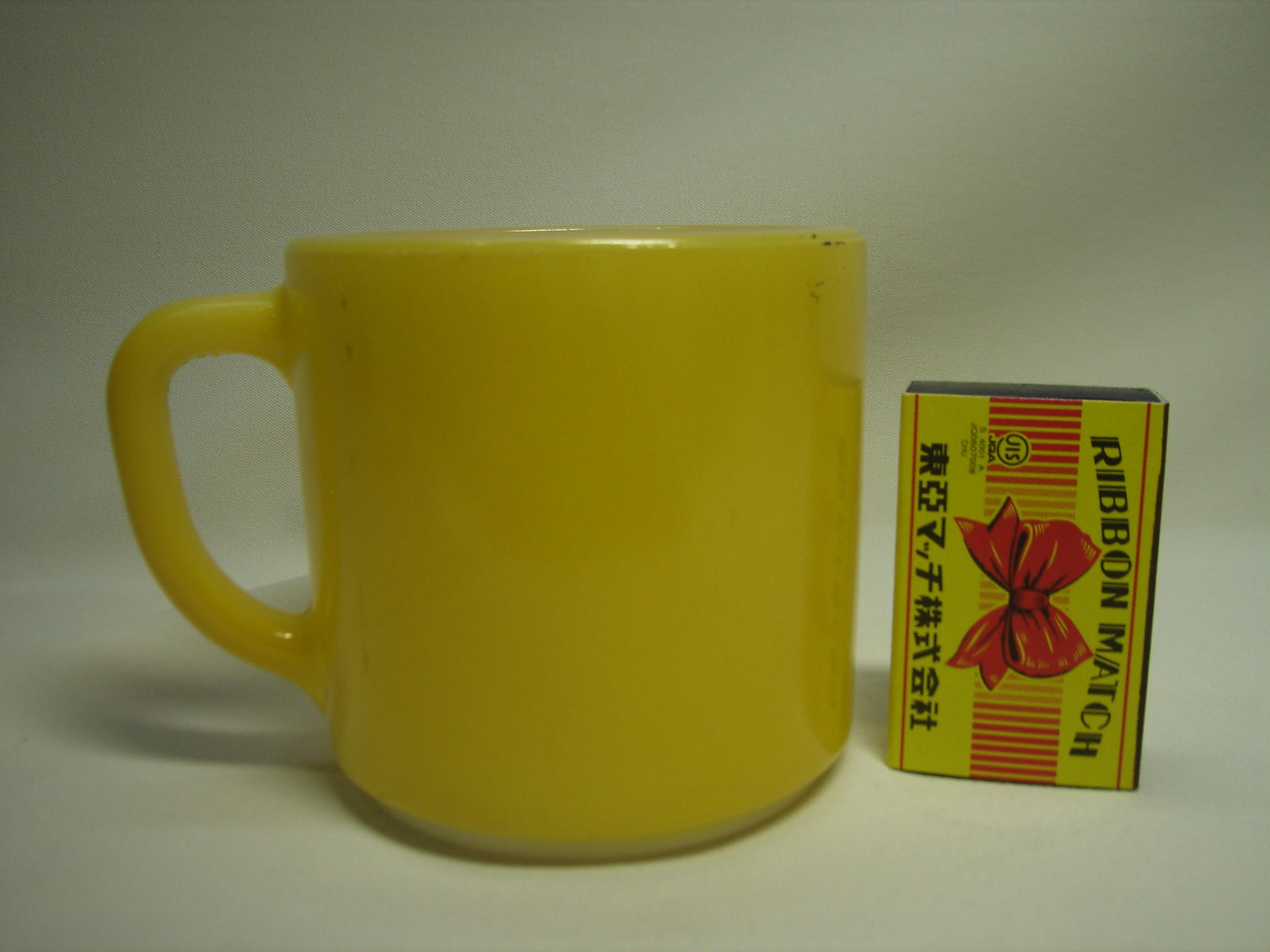 フェデラルグラス 黄色 Dハンドルマグカップ USA 現状 【AW2034】