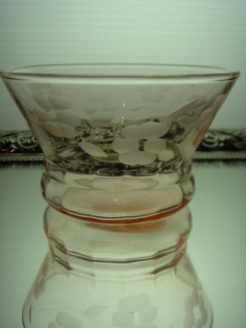 アメリカ ヴィンテージ お花が可愛い  ピンクのデザートカップ 【AWG0102】