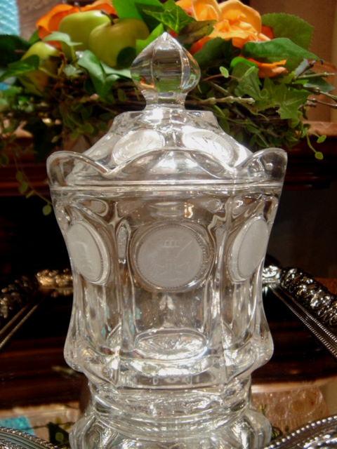 アメリカ フォストリア コインシリーズ ガラス製フタ付きジャー 【AWG0163】