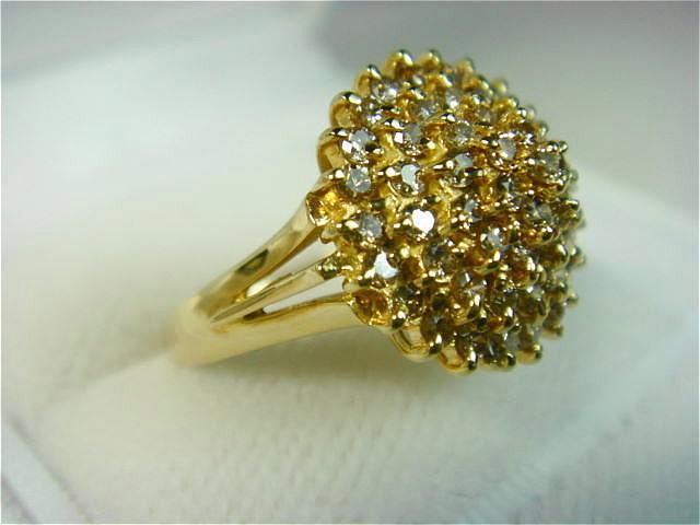 ダイヤ多数・綺麗なリング!【材質】18金 【他】ダイヤ D1.03ct 【サイズ】11号【JU0153】