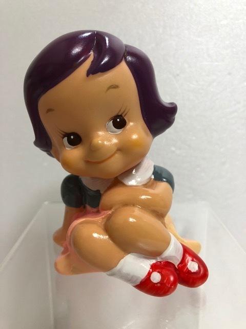 第一勧業銀行 のばらチャン ソフビ人形 貯金箱 10.0cm 当時物 企業物 非売品 現状 【TO159】