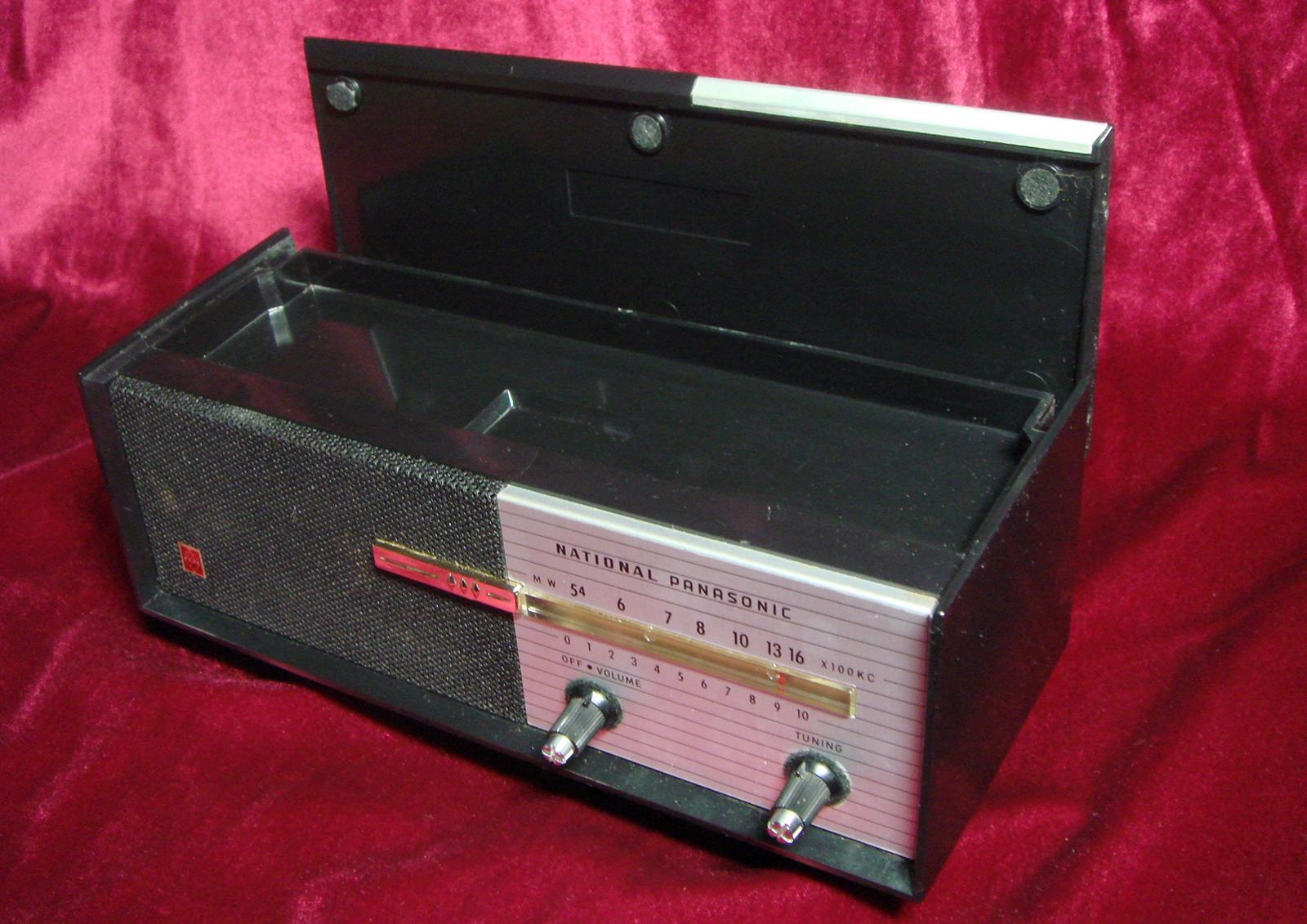 ナショナル小型ラジオ Japan製 昭和レトロ ヴィンテージ【AJ1875】