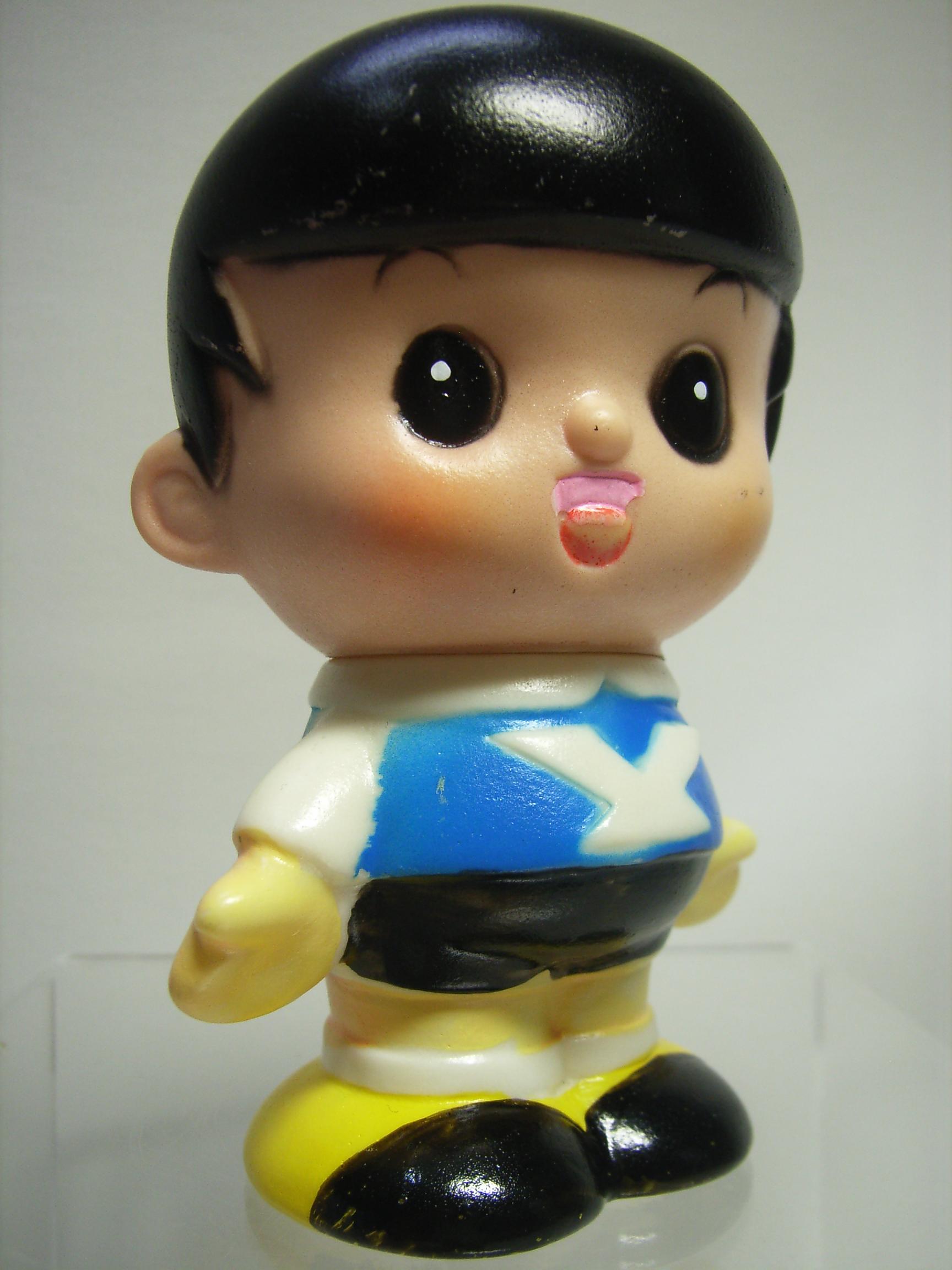 レア☆ヤンマー ヤン坊 ソフビ人形 貯金箱 9.3cm 当時物 現状 【TO2211】
