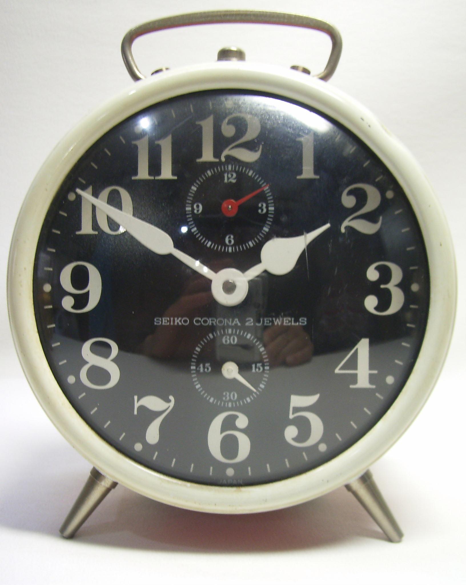 かわいい!セイコー JAPAN 目覚まし時計 SEIKO CORONA 動作確認済み 現状 手巻き【TO2243】