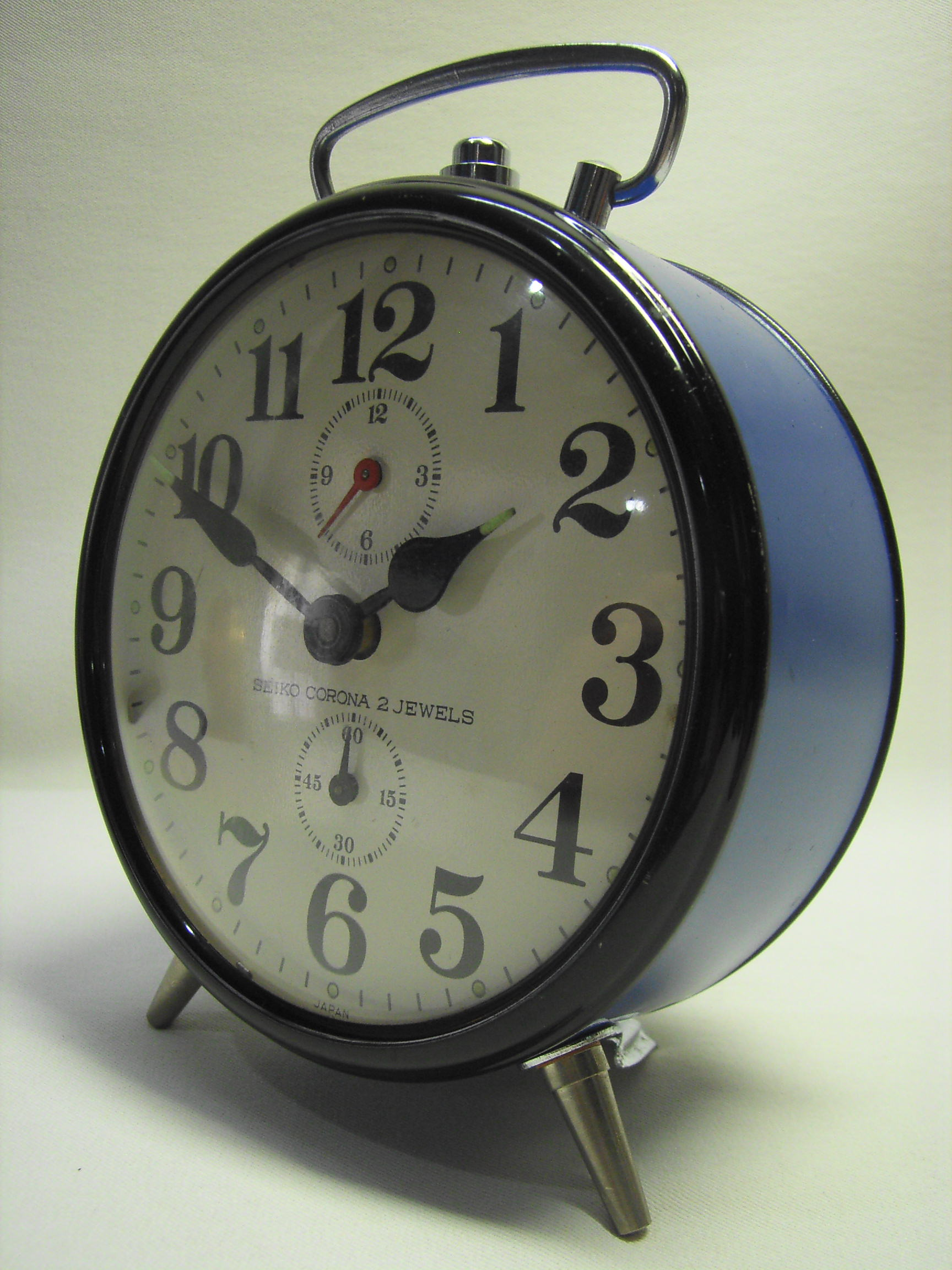 かわいい!セイコー JAPAN 目覚まし時計(青色) SEIKO CORONA 動作確認済み 現状 手巻き【TO2266】