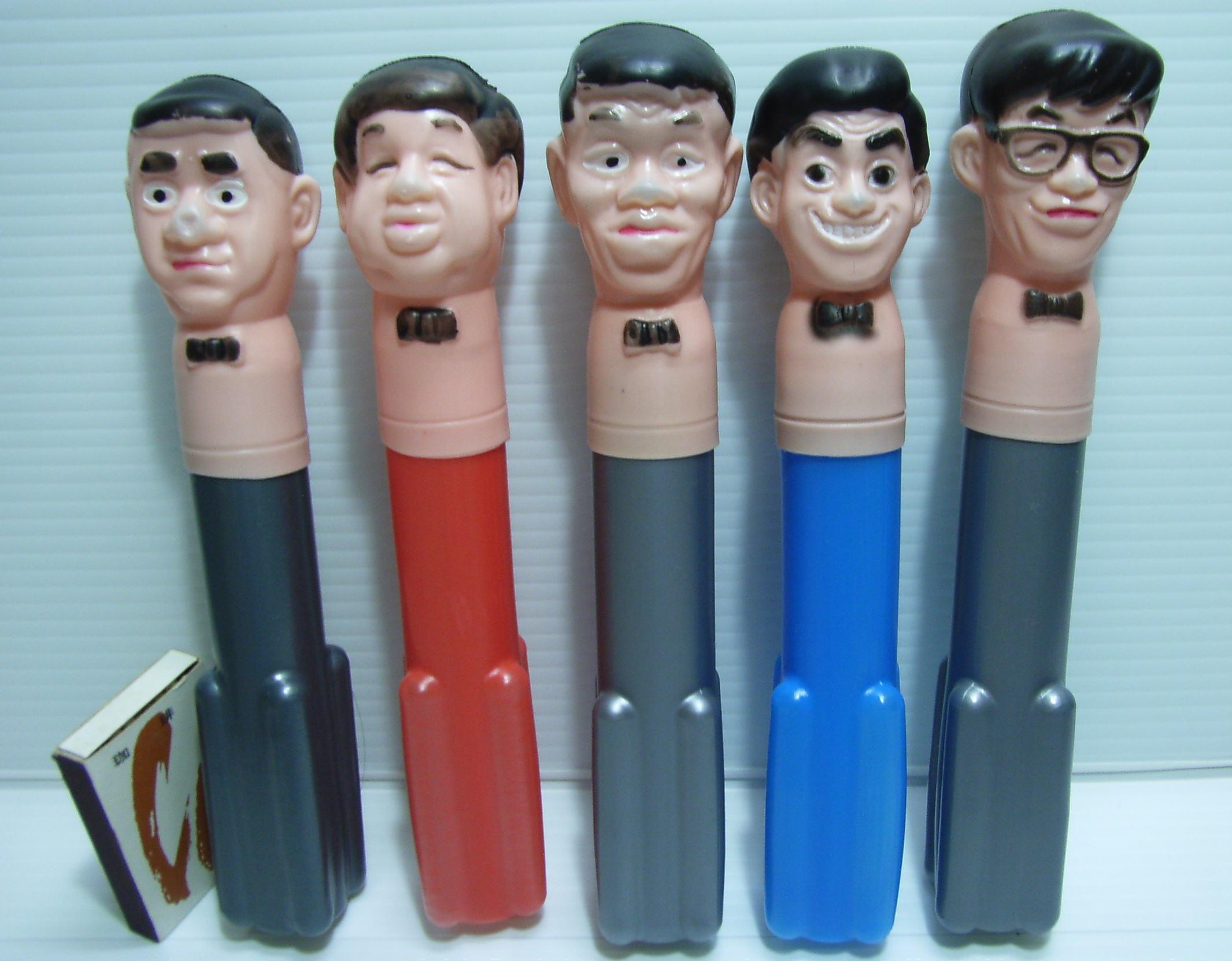 レア☆トンボ鉛筆 ドリフターズ 首チョンパ 5体セット 当時 企業物 非売品 【TO2499】