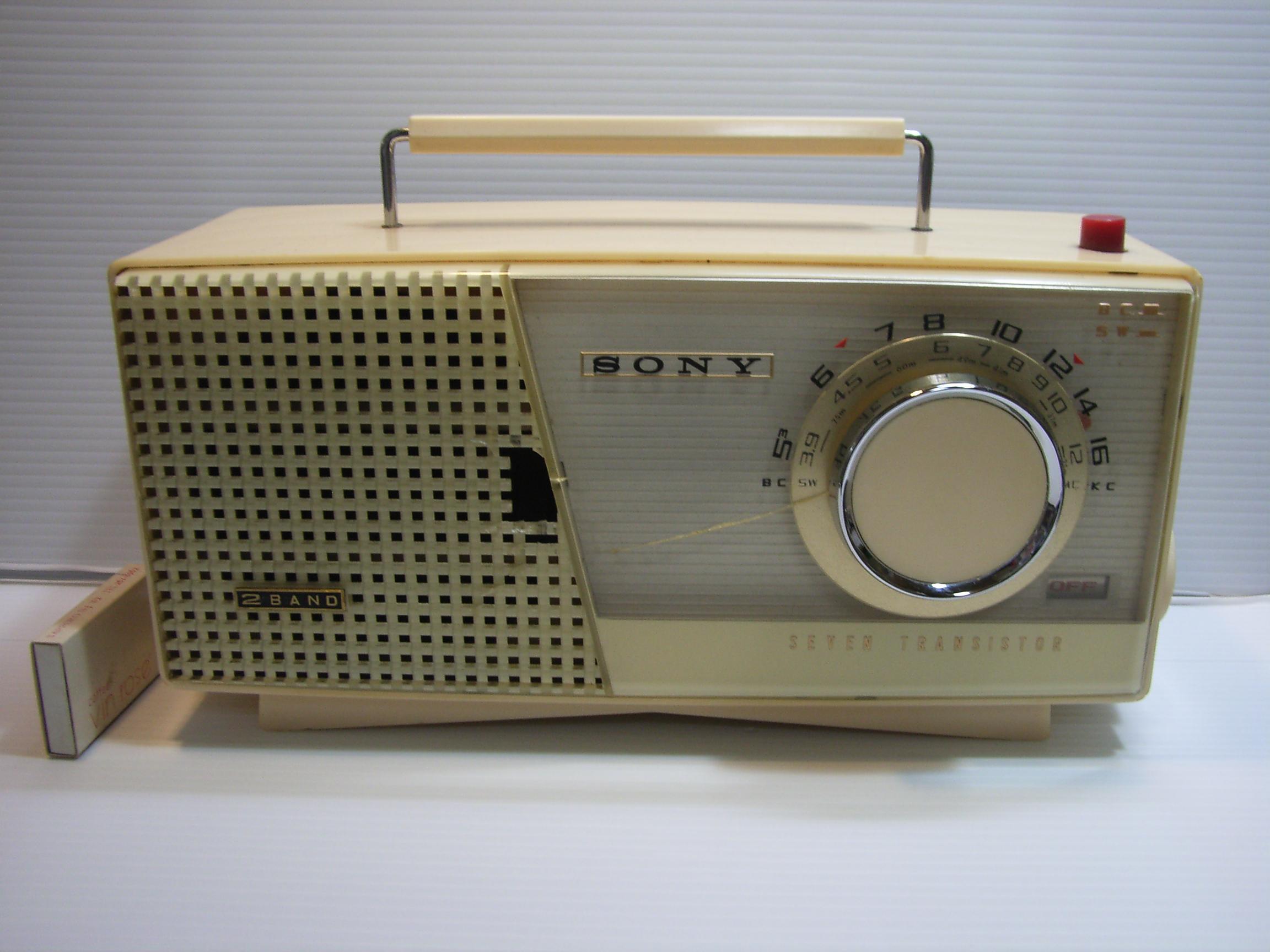 ソニー☆セブントランジスター ラジオ 横幅28.8cm JAPAN 動作確認済 現状 【TO2810】