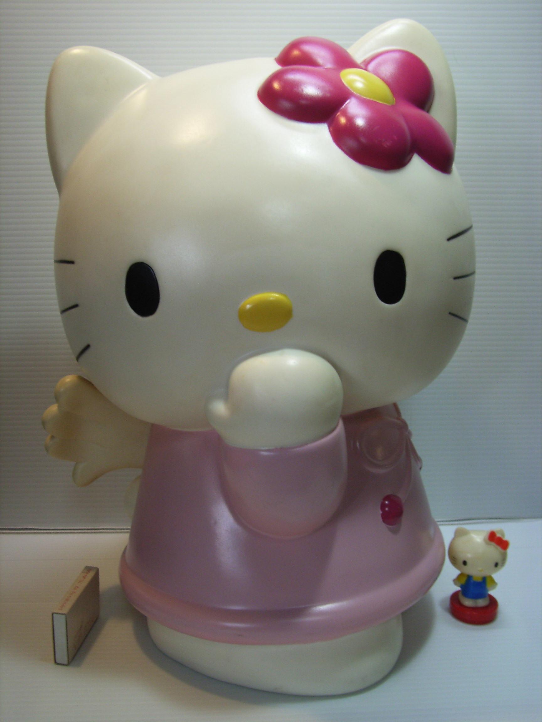 特大☆サンリオ ハローキティ ソフビ人形 貯金箱 37.3cm 版権有 現状 【TO2857】