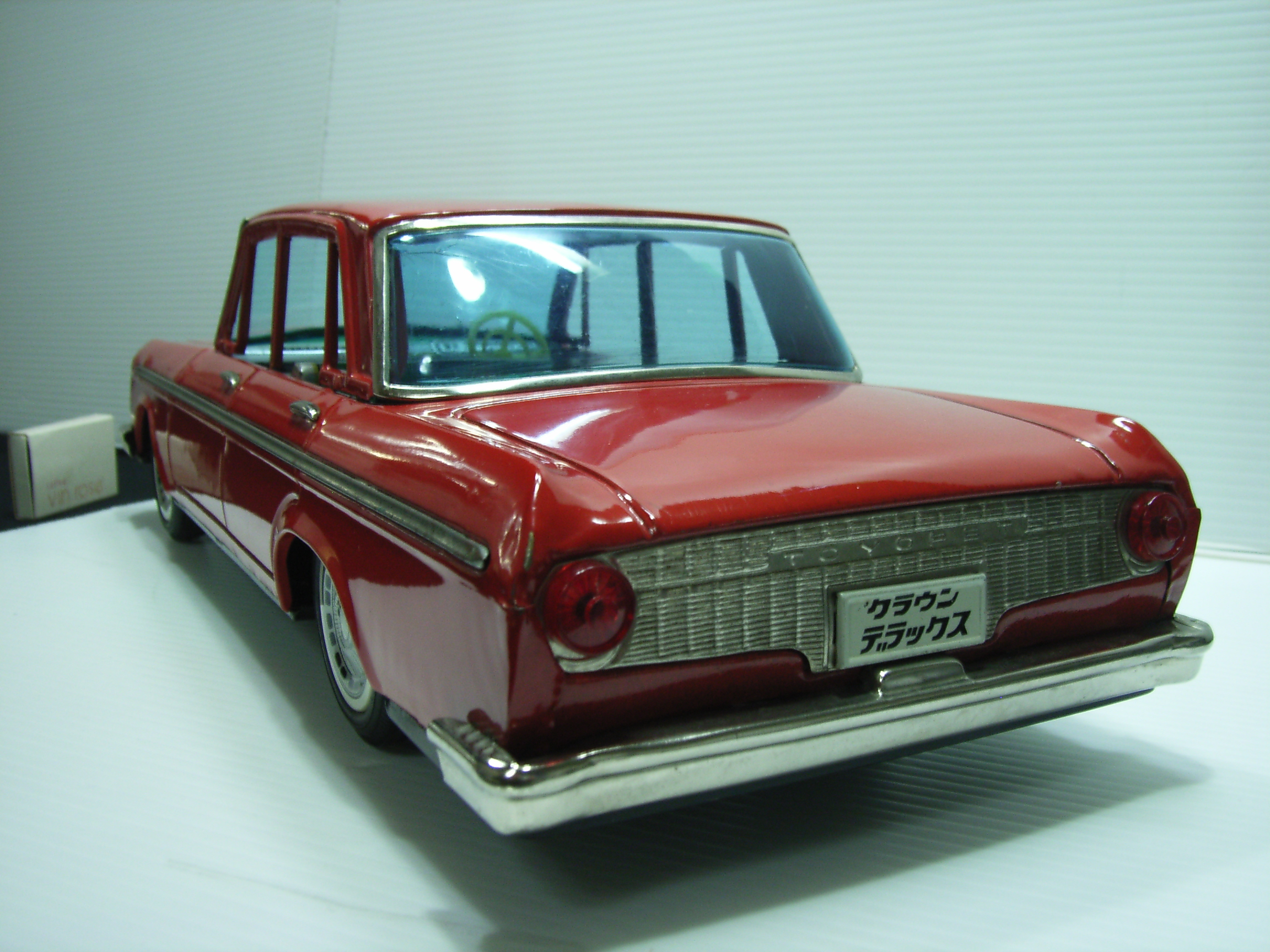 貴重☆ヨネザワ クラウン デラックス ブリキ 自動車 大型 39.0cm 当時物 フリクション JAPAN 現状 【TO3066】