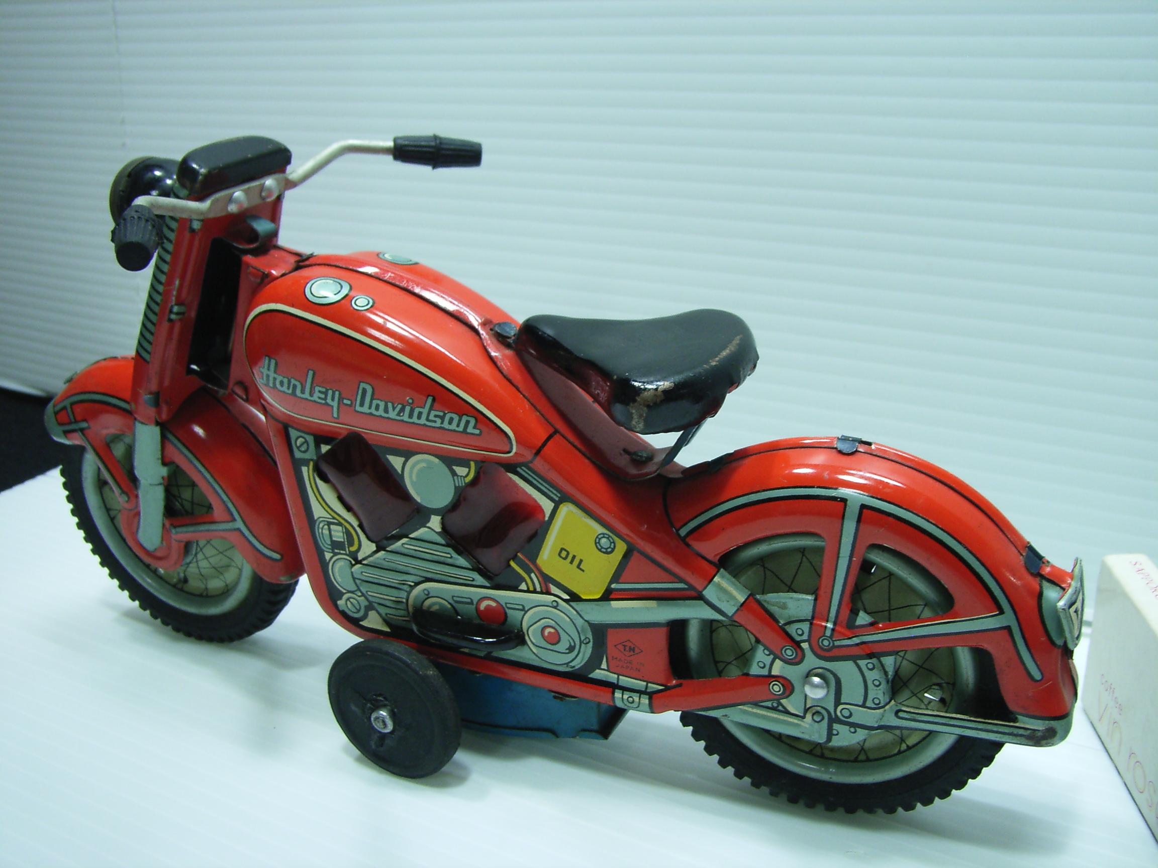 希少☆野村トーイ ハーレー ブリキ オートバイ 大型 23.3cm 当時物 JAPAN 現状 【TO3137】