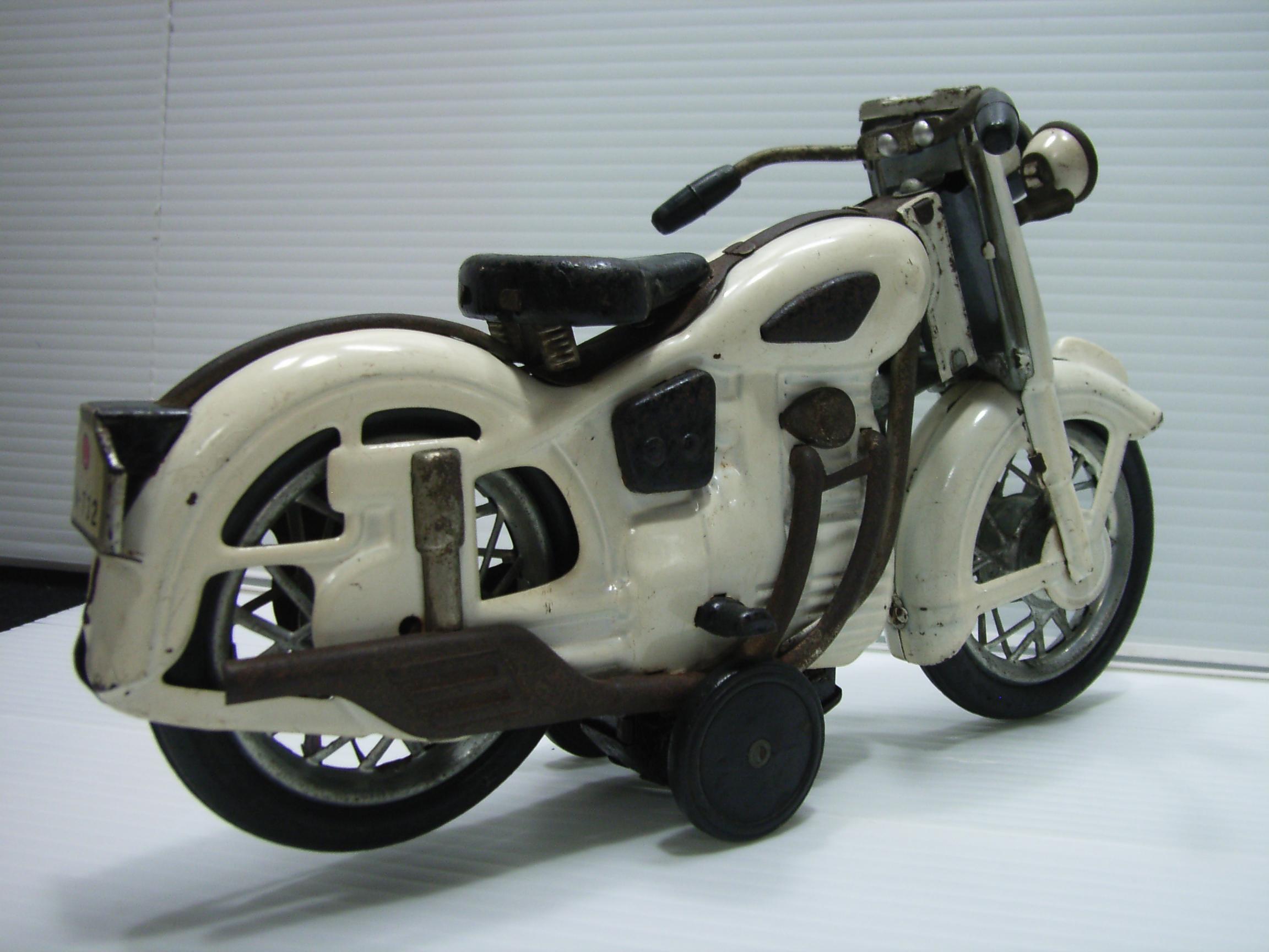 希少☆マルサン? サンビーム ブリキ オートバイ 大 21.7cm 220g 当時物 JAPAN 現状 詳細不明 【TO3139】