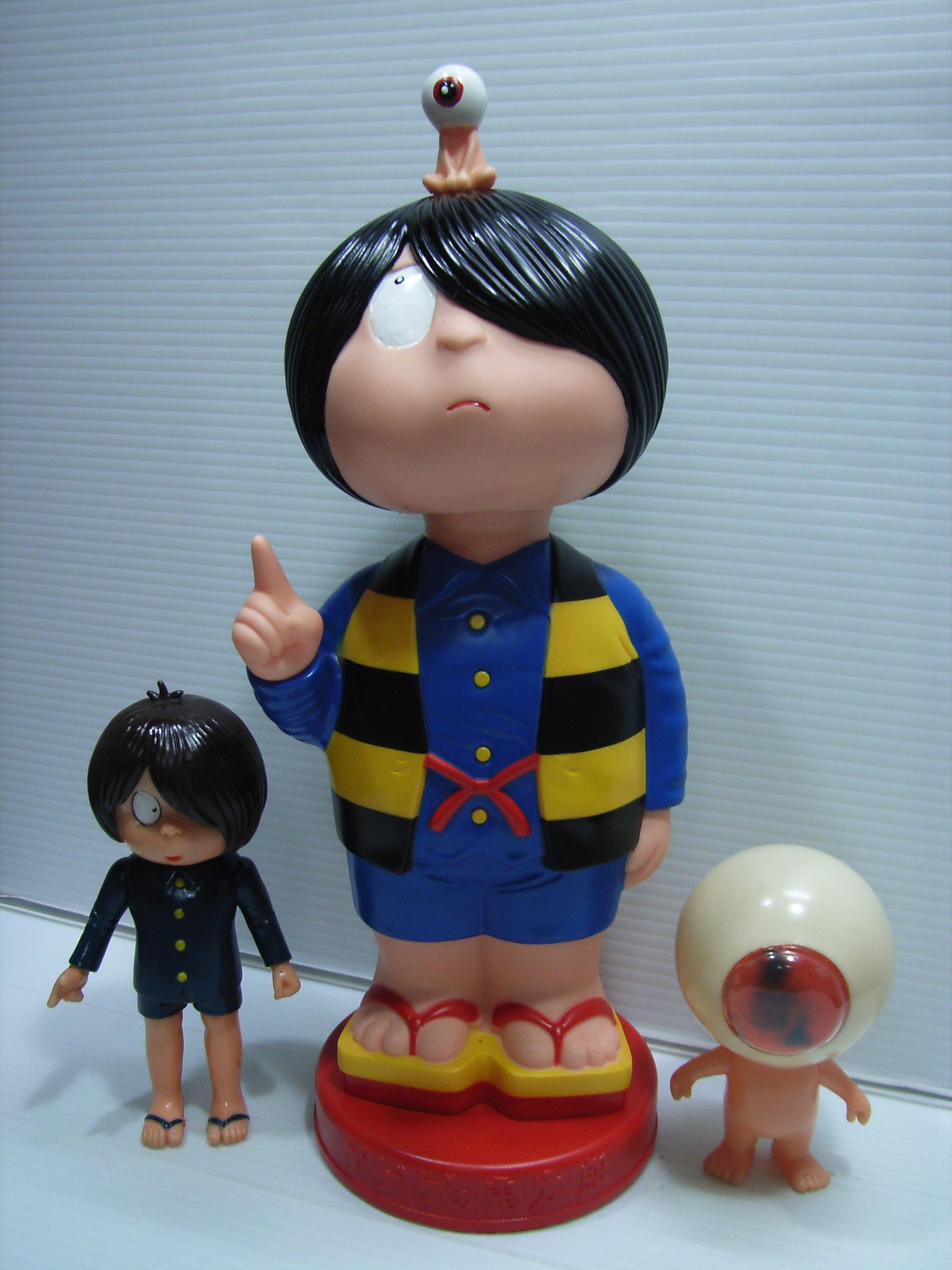 ゲゲゲの鬼太郎 首ふり ソフビ人形 大型 30.0cm 版権有 JAPAN アニメ 現状 【TO3462】